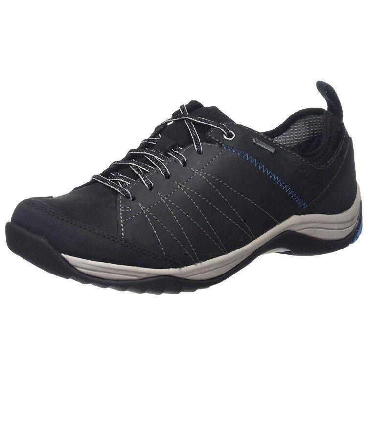 Clarks Mens Baystonelo Gtx Black Nubuck Uk Size 9.5 Fit G