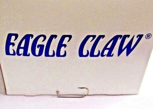 570 100 Pack 1 Eagle Claw 90 ° Aberdeen Round Bend jig hameçons BRONZE Taille
