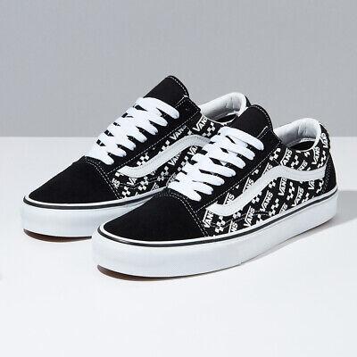 Vans Logo Repeat Old Skool Skate Shoes