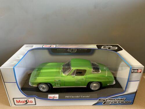 1:18 Maisto 1965 Chevrolet Corvette American Classic Muscle Sports Super Voiture Gre