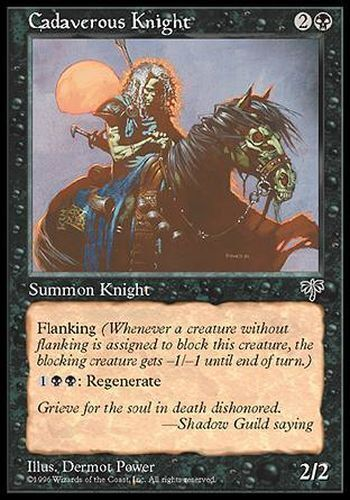 ▼▲▼ 4x Cadaverous Knight Chevalier cadavéreux MIRAGE #110 ENGLISH MTG