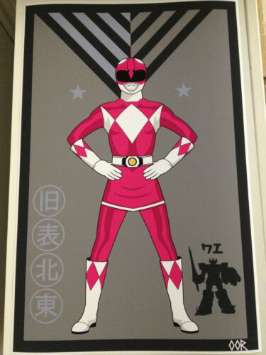 Power Rangers Pink poster print