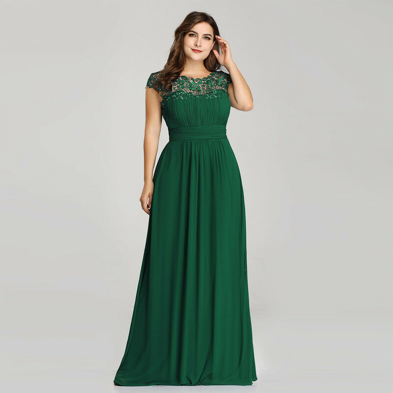 Ever-Pretty Plus Size US Mother of Bride Dress Long Lace Formal Party Gown 09993