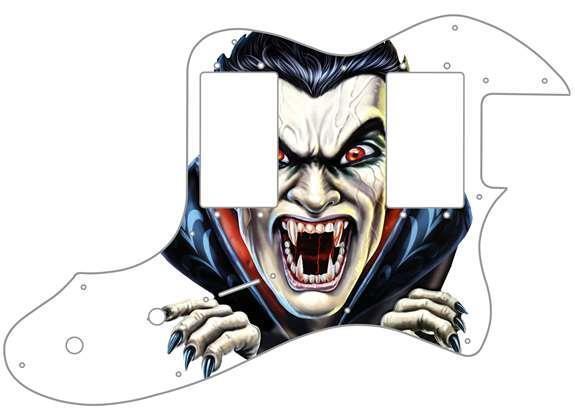 Telecaster Thinline'72 Ri Pickguard Fender Guitarra personalizada gráfica de de de la DRAC 2 WH  60% de descuento