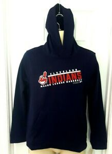 Cleveland-Indians-Youth-Hoodie-Size-Large-14-16-Chief-Wahoo-Blue-Lightweight-New