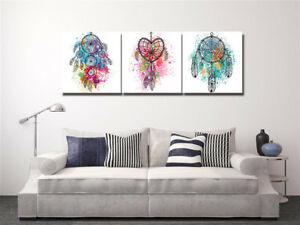 Details About Colorful Dream Catcher Painting Abstract Art Print Canvas Wall Decor Set Frame