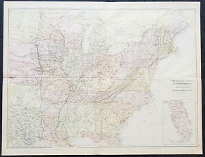 Details about 1860 Blackie & Son Large Antique Map of The Eastern United on elevation united states, latitude united states, region united states, longitude united states, culture united states, globe united states, continent united states, mountain united states, geography united states, climate united states,
