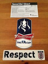 Official 2012-14 Budweiser FA CUP Tournament Soccer Football Badge Patch Set