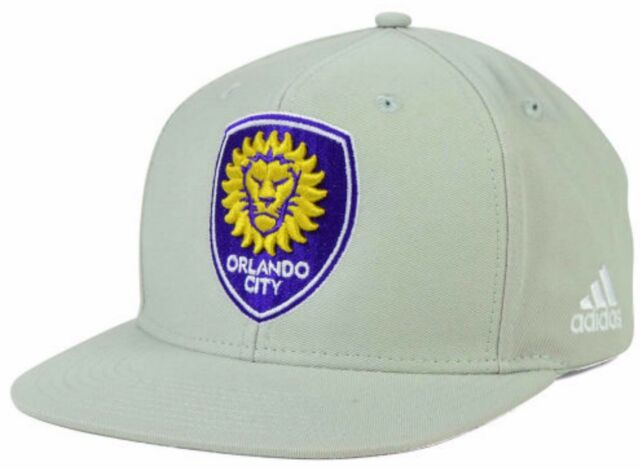 Orlando City Soccer SC Florida MLS ADIDAS Snapback Gray Fit OSFM Hat Cap