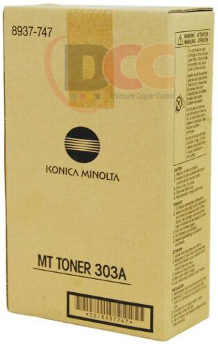 8937-747 KONICA MINOLTA MT TONER 303A 2 PACK FOR DI3010 DI3510