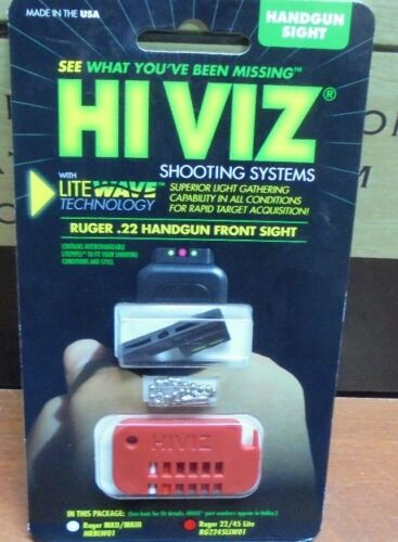 HiViz Fiber Optic Front Sight Kit System for Ruger Mark 2 3  New Free Shipping!!