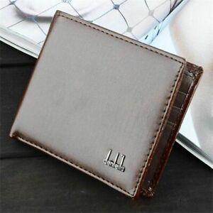 Mens-Leather-Wallet-Pocket-Coin-Card-Money-Holder-Clutch-Bifold-Slim-Purse-Gift