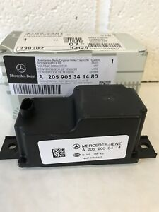 Details about Genuine Mercedes-Benz W205 C-Class Voltage Converter Aux  Battery A205905341480