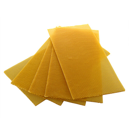 10 Sheets Natural Pure Beeswax Candlemaking Beekeeping Bee Wax Candle Crafts