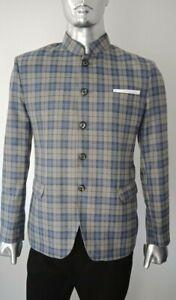 Men-039-s-Designer-Jodhpuri-Suit-Blazer-Party-Wear-Wedding-Checked-Jacket