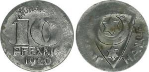 Probe Or Lack Coinage Hall 10 Pfennig 1920 On Thin Schrötling XF