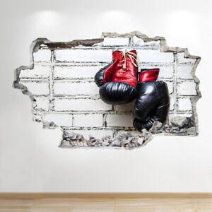 BOXING Wall Sticker 3D Look-Garçons Enfants Chambre à coucher sport extrême applique murale Z864