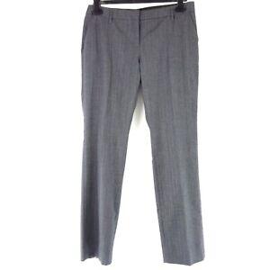 Schumacher Pantalons Femme de L 40 Gris Droit Business Viscose Laine Neuf