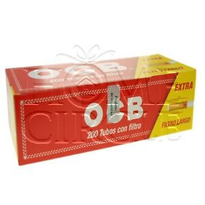 Bulk Full Box OCB 200 Empty Cigarette Tubes Filter Rolling Paper Smoking Tobacco 716165200550