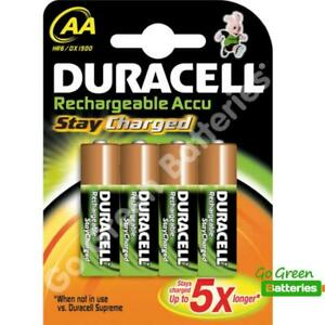 e4eebe6da53 4 x Duracell AA 2000 mAh PRE/ STAY CHARGED Rechargeable Batteries ...