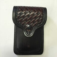 Colt 1911 Leather Double Mag Magazine Basket weave Pouch Holder