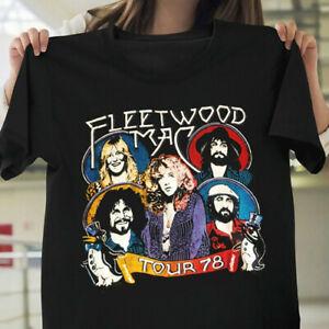 Fleetwood Mac 1978 Tour T-shirt Cotton Concert Band 1970s T-Shirt Size S-3XL