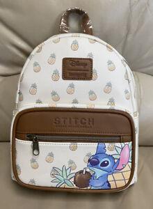 Loungefly Disney Lilo and Stitch Ohana Pineapple Mini Backpack  Bag RARE-So Cute