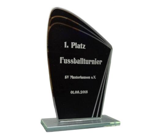 """Glas-Pokal /""""Black Series/"""" mit Ihrer Wunschgravur"""