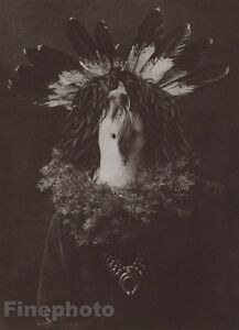 1900/72 Photo Gravure NATIVE AMERICAN INDIAN Navaho Costume EDWARD CURTIS 11x14