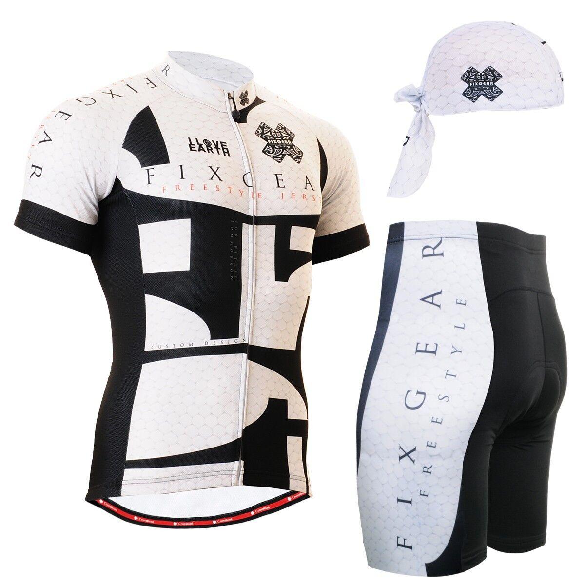 FIXGEAR CS-3402-SET Cycling Jersey Shorts & Shorts Jersey Padded, MTB Bike, BMX, Beanie GIFT 5bebea