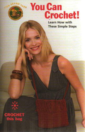 Aprenda A Crochet Principiantes cómo ganchillo y hacer Bolsa sencillos pasos Patrón Folleto