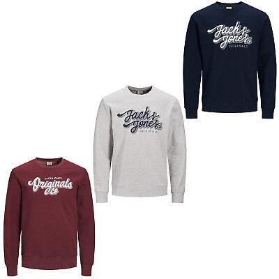 Jack /& Jones Original Pullover Jorfred Herren Rundhals Sweatshirt Pullover