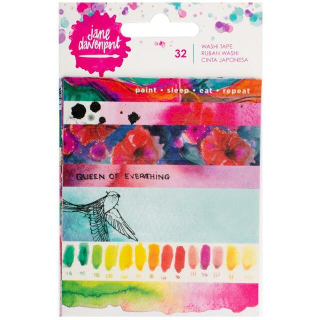 Jane Davenport Washi Tape Strips - Painted Phrases - 5 Sheets