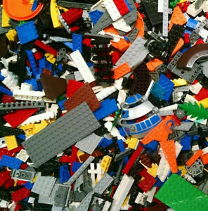 Bulk-LEGO-LOT-1-pound-of-Bricks-parts-Pieces-Tires-accessories-4th-pound-Free