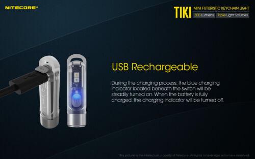 NiteCore TIKI Primary OSRAM P8 LED USB Rechargeable Keychain Flashlight Torch