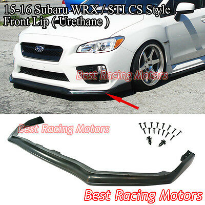 Urethane Fits 15-17 Subaru WRX STi MPX Style Front Bumper Lip