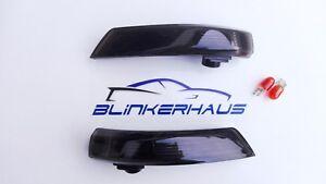 SCHWARZE-Seitenblinker-Spiegel-Blinker-Ford-Focus-Mk2-Mk3-ST-RS-500-Mondeo-Mk4