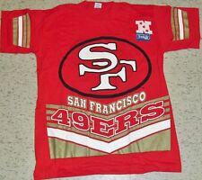 San Francisco 49ers shirt Vintage 90's New Large Salem Deadstock 2 SIDED LAST1