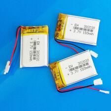 3 pcs 150mAh 3.7V LiPo Polymer Battery for MP3 GPS PSP Headset Bluetooth 302030