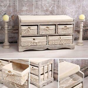 Sitzbank Flur Vintage : sitzbank truhe kommode 5 k rbe shabby chic wei bank flur ~ Watch28wear.com Haus und Dekorationen