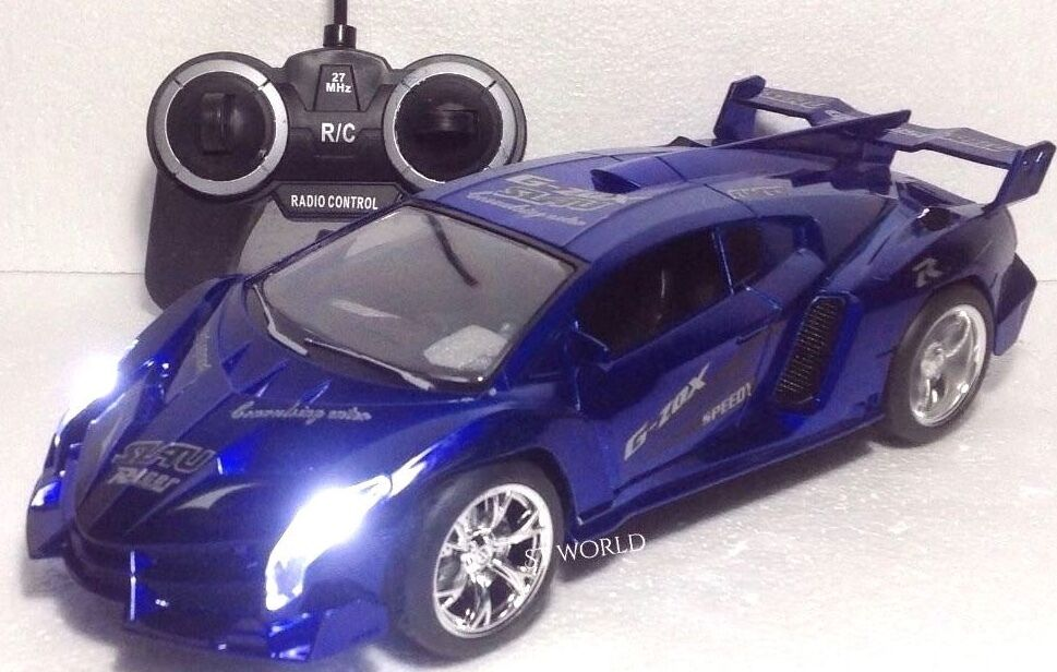 LAMBORGIHINI AVENTADOR RADIO REMOTE CONTROL1 14 LED FAST DRIFTING G-Z0X blueE CAR