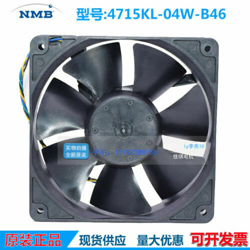 for NMB-MAT 4715KL-04W-B46 12038 120x38mm Cooler Fan DC 12V 0.90A 4Pin