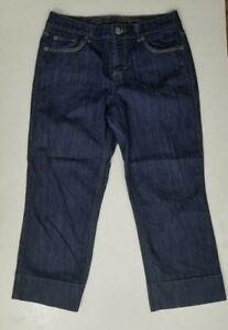 Tommy-Hilfiger-Women-039-s-Crop-size-8-Jean-Capris-Dark-Wash-Denim-737