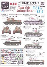 Star Decals 1/35 T-34 TANKS & KV-1 TANKS OF THE LENINGRAD FRONT