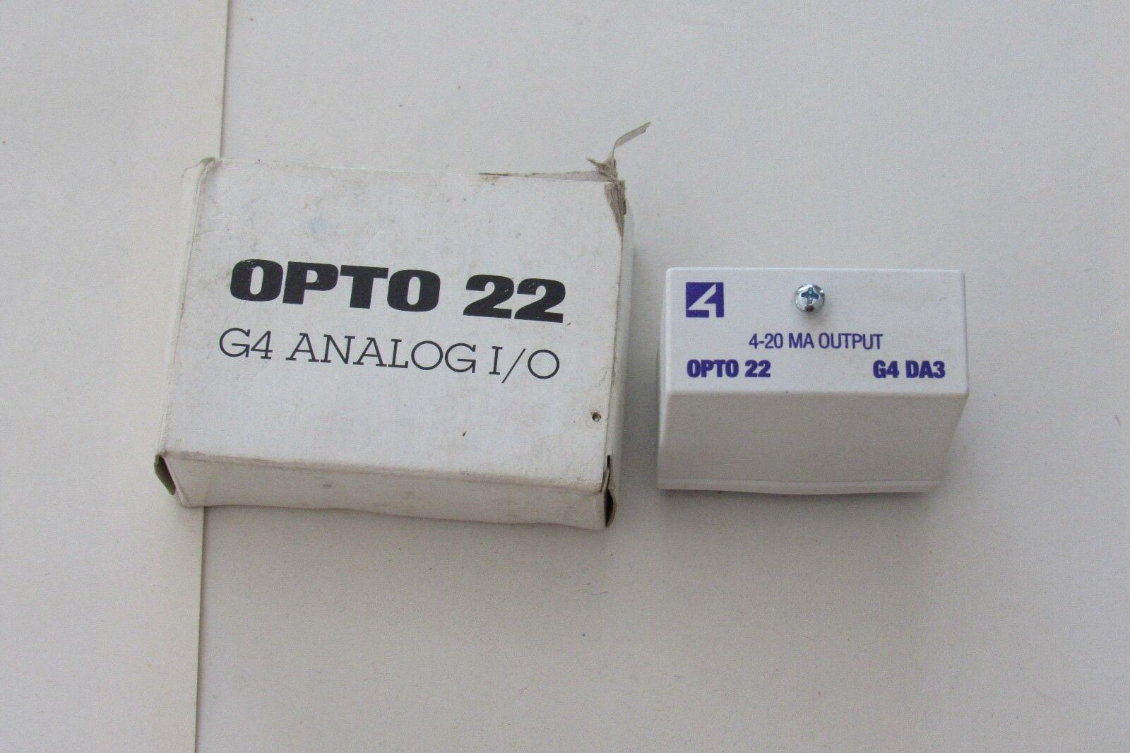 20MA 4 to NEW NOS Opto 22 G4DA3 68474-16 Analog Output Module