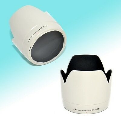 ET-83II White Lens Hood Tulip Flower Shade for Canon 70-200mm USM NonIS 77mm JJC