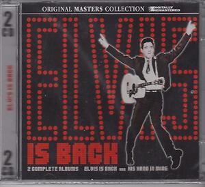 ELVIS-PRESLEY-ELVIS-IS-BACK-amp-HIS-HAND-IN-MINE-on-2-CD-039-s-NEW