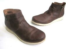 09deac4bd68c Born Kaori Women s Boots Size 10 Brown Full Grain Leather Wedge Ankle Boot  ...