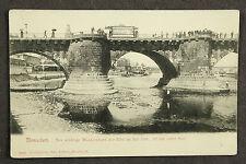 Dresden Elb Klondyke niedriger Wasserstand der Elbe 1904 / AK 53