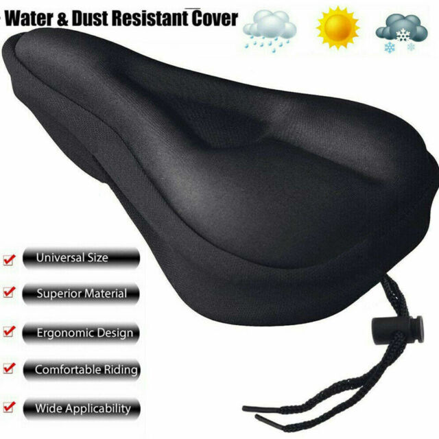 Mountain Bike Comfort Soft Gel Pad Comfy Cushion Saddle Bicycle Cycle Seat Cover